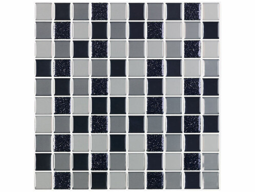 Autocollants décoratifs 3D (x15) - 26 x 26 cm - Mosaïque Niveaux de gris