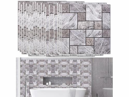 Autocollants décoratifs 3D (x15) - 30 x 30 cm - Mur en pierres