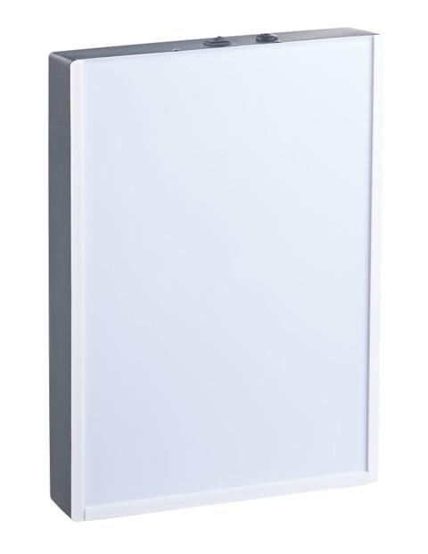 Boîte d'affichage lumineuse pour films transparents et feuilles A4