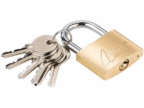 Cadenas à clé en laiton - 43 mm