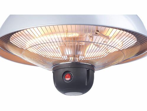Chauffage radiant infrarouge de plafond 2000 W à 3 niveaux et télécommande
