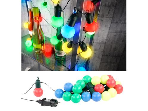 Guirlande guinguette 4,75 m 20 ampoules LED 1W - 4 couleurs