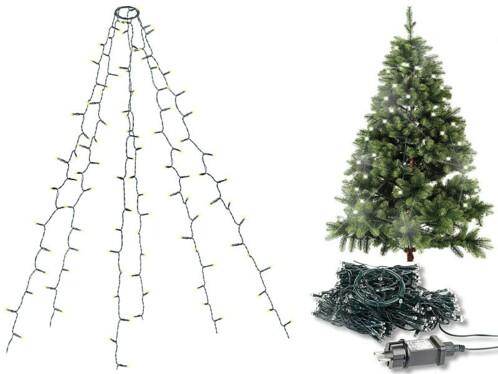 Guirlande lumineuse 6 fils / 180 LED effet cascade pour sapin de Noël