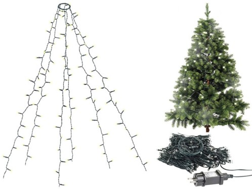 Guirlande lumineuse 6 fils / 240 LED effet cascade pour sapin de Noël