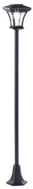 lampadaire de jardin solaire avec eclairage automatique style retro laiton swl20 royal gardineer