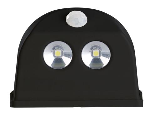 2 lampes de porte sans fil à LED avec détecteur - 50 lm - Noir