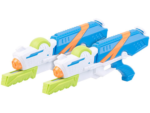 Lot de 2 pistolets à eau XL avec réservoir 850 ml