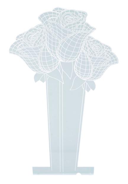 motif roses bouquet hologramme 3d pour socle lumineux lunartec nx9153 rouge