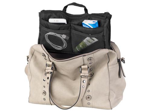 29469ec6c7 Organisateur de sac à main 26 x 16 x 8 cm à 13 poches - coloris noir ...