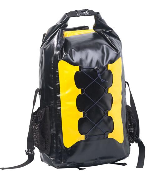 Sac à dos trekking étanche en toile de bâche 30 L - coloris jaune / noir