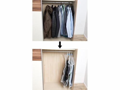 lot de 3 sacs sous vide pour rangement des vêtements proctection poussière et mites 70 x 140 cm