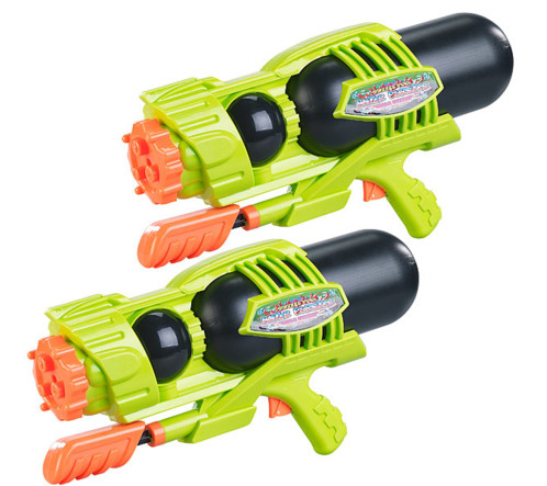 Set de 2 pistolets à eau XL à réservoir 1600ml/ 3types de jets