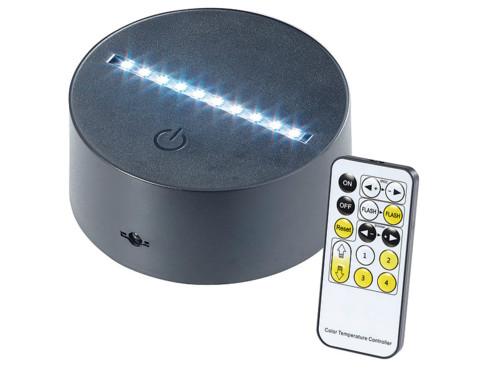 Socle lumineux décoratif à LED pour motifs 3D interchangeables LS-7.3D