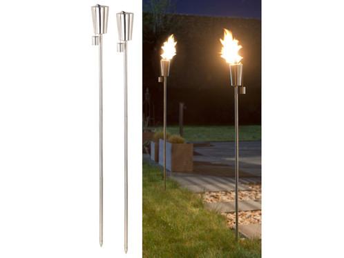 "2 torches de jardin en acier inoxydable ""Amor"" - 280 ml"