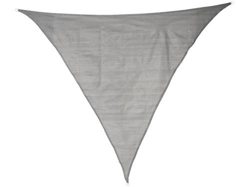 Voile d'ombrage triangulaire - 3 x 3 x 3 m - Gris