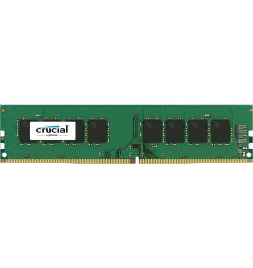 Barrette de mémoire Crucial DDR4 avec 4 Go de mémoire.