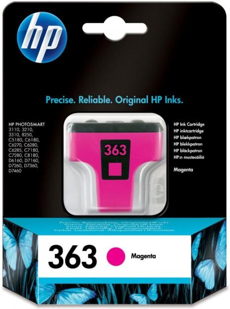 Cartouche originale HP N°363  C8772EE - Magenta
