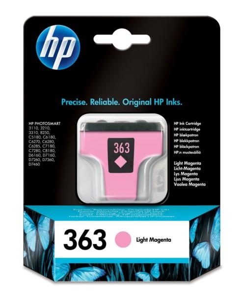 Cartouche originale HP N°363 ''C8775EE'' - Magenta clair