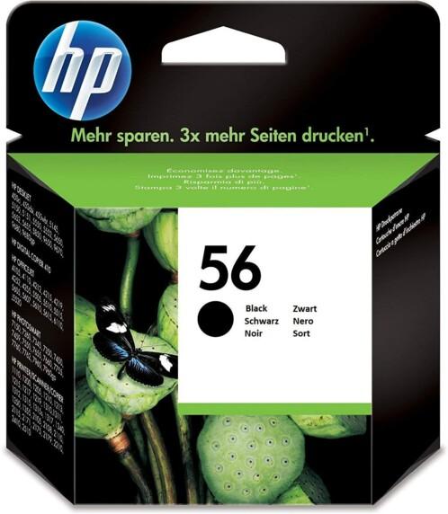 Cartouche originale HP N°56 C6656A - Noir