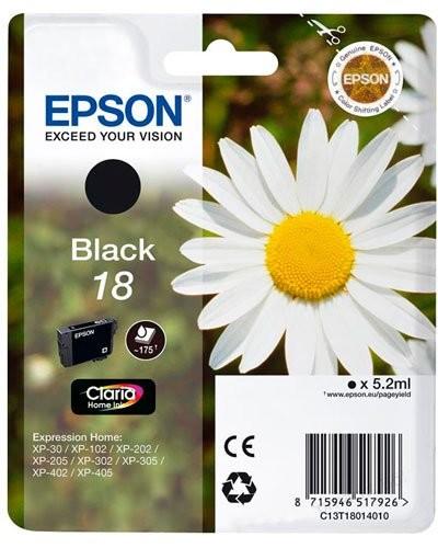 Cartouche originale Epson N°18 Pâquerette T180140 - Noir