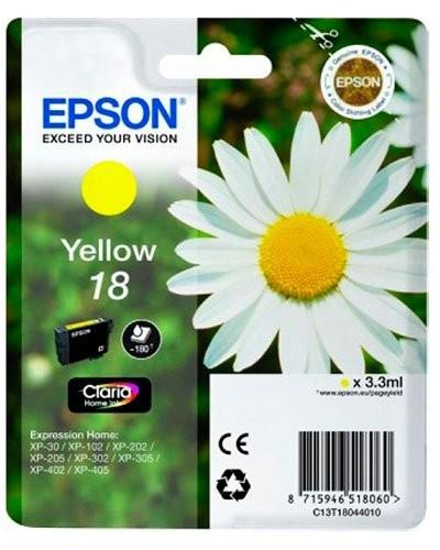 Cartouche originale Epson N°18 Pâquerette T180440 - Jaune