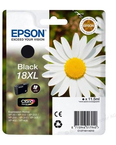 Cartouche originale Epson N°18 Pâquerette XL T181140 - Noir