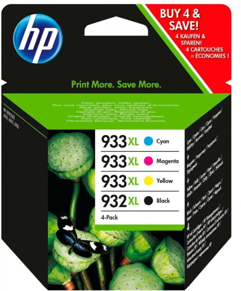 Cartouches originales HP N°932-933 XL C2P42AE - Pack