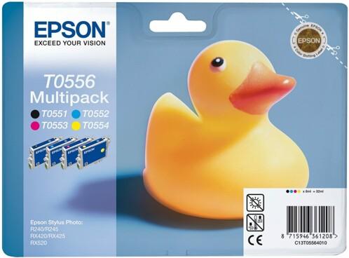 Cartouches originales Epson T055640 - Pack couleur + noir