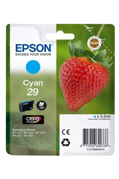 cartouche originale epson 29 fraise strawberry cyan