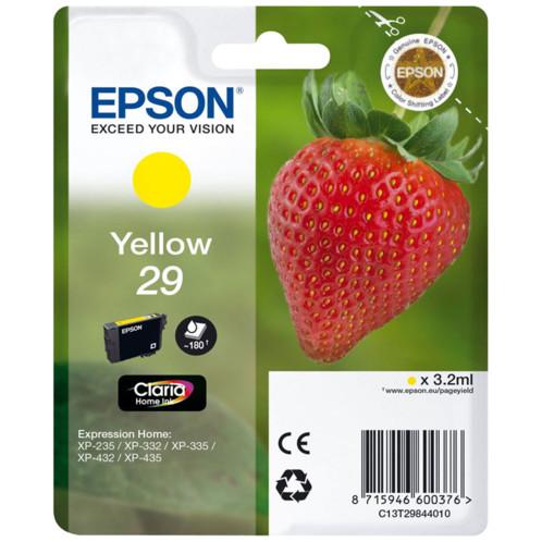 cartouche originale epson 29 fraise strawberry jaune yellow