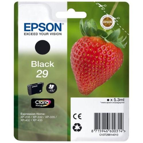 cartouche originale epson 29 fraise strawberry noir
