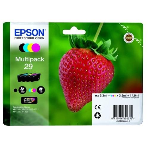 Cartouches originales Epson Fraise Série T2986 - Pack