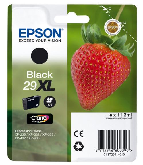 Cartouche originale Epson N°29 Fraise Série XL T2991 - Noir