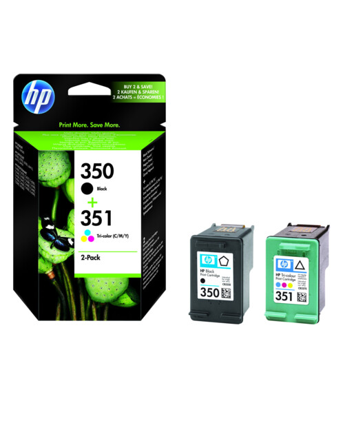 Cartouches originales HP N°350 et N°351 SD412EE - Noir/CMJ