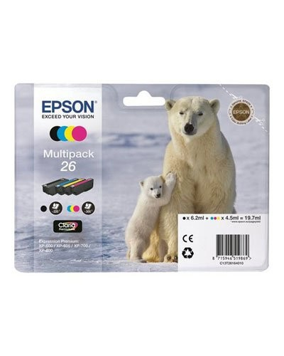 Pack cartouches originales Epson N° 26 Ours Polaire - Pack