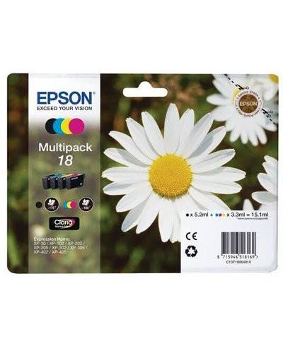 Pack cartouches originales Epson N°18 Pâquerette T180640 - Pack