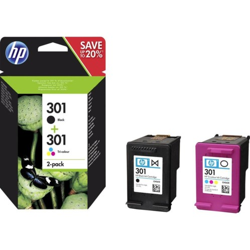 pack de cartouches noir et couleur cmj hp 301 originales