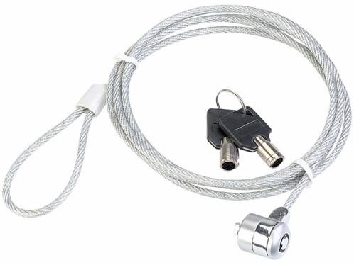 Câble antivol en acier pour ordinateurs portables - 1,80 m