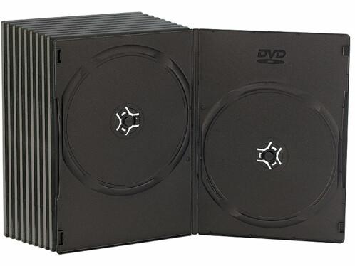 10 boîtiers DVD slim (7 mm) noirs pour 2 DVD