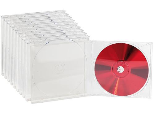 10 Boîtiers range-CD transparents