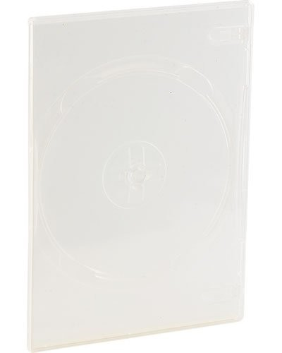 10 jaquettes DVD slim (7 mm) transparent pour un DVD
