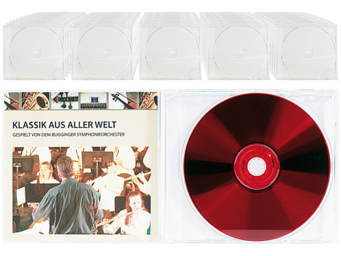 50 Boîtiers range-CD transparents