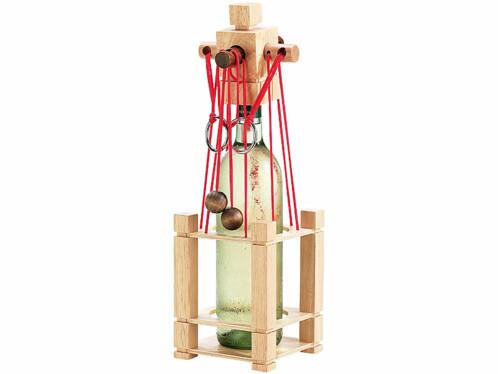 Casse-tête en bois pour bouteille - difficulté difficile