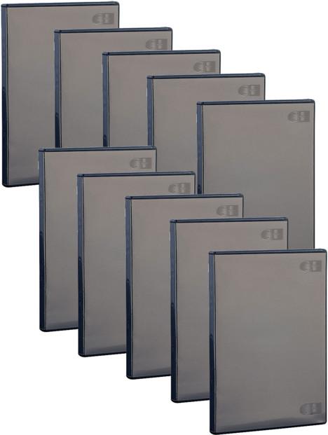 10 boîtiers d'archivage noirs CD/DVD