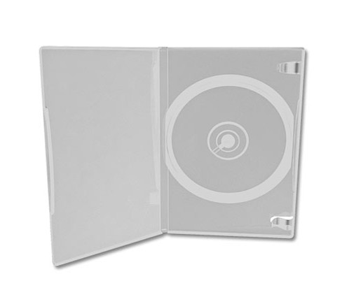 10 boîtiers d'archivage transparents CD/DVD