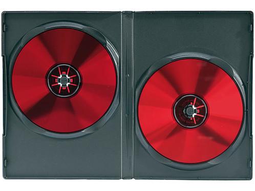10 boîtiers rectangulaires pour 2 DVD / CD - Noirs