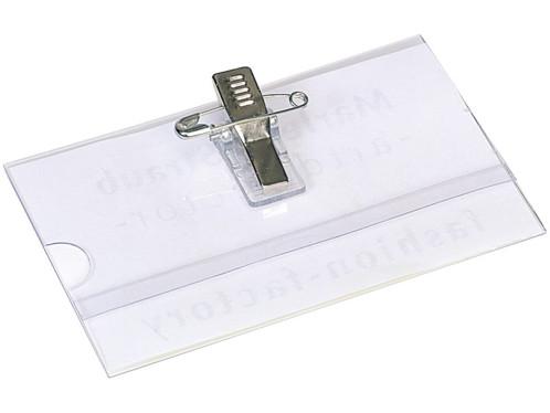 Badges Portenom En Plastique Avec Pince Par Ou Pearlfr - Porte nom