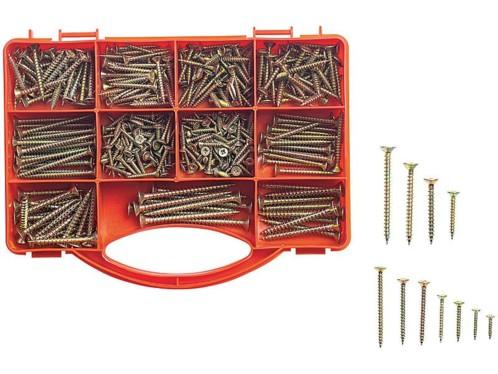 Set de Vis n°2 avec boîte de rangement - 400 pièces