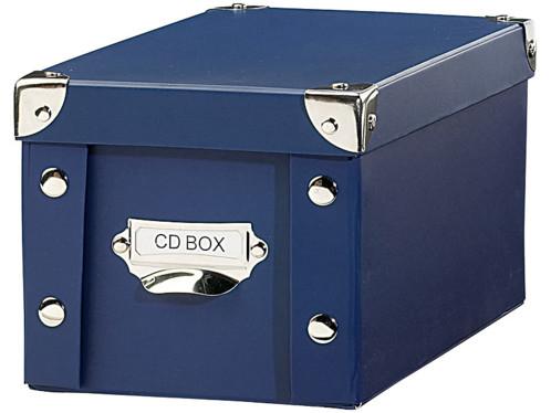 Boîte Pearl bleue d'archivage pour CD