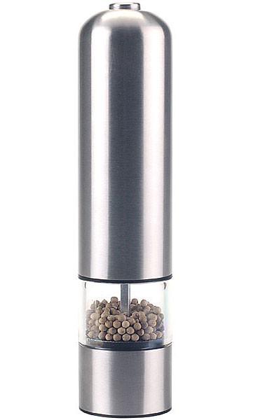 moulin poivre sel et pices lectrique en acier bross. Black Bedroom Furniture Sets. Home Design Ideas